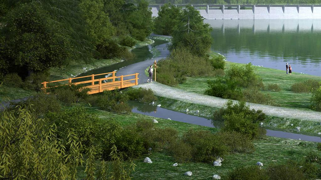 Rekreace a cesty kolem přehrady NH