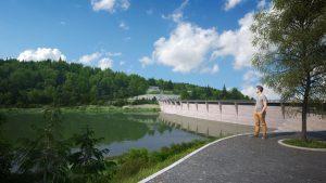 Vizualizace přehrady NH