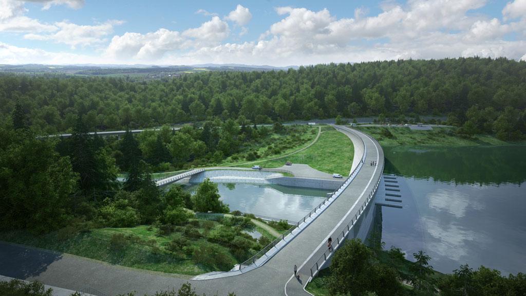 Hráz přehrady NH