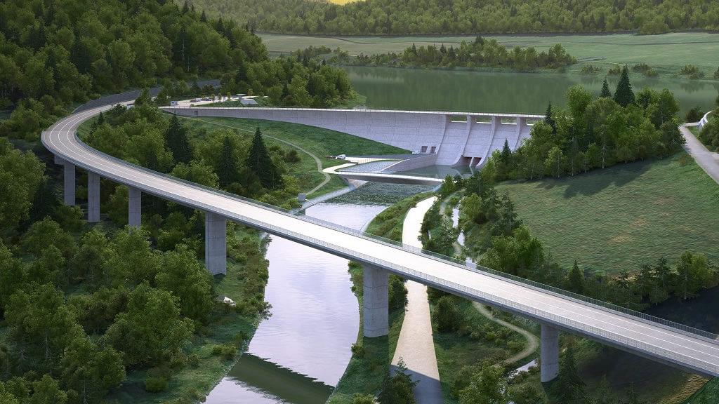 Doprava okolo přehrady NH